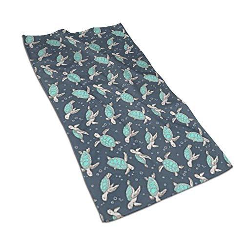 WH-CLA Toalla De Piscina Sea Turtles Green Mint Fashion 80X130Cm Sábana De Baño De Secado Rápido Unisex Toalla De Piscina Suave para Adultos Toallas De Baño Duraderas Toalla De Playa per