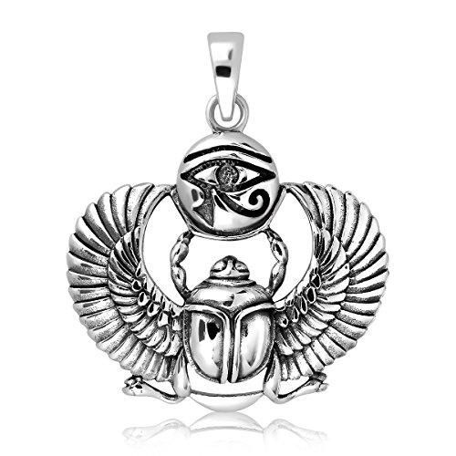 Sistakno Pendentif avec symbole égyptien de protection en ar
