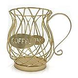 Titular de la cápsula de café, CAPSULA UNIVERSAL CAPSULA DE ALMACENAMIENTO Cesta de taza de café Cesta de café Vintage Café POD Organizador Cápsulas para Home Cafe Hotel para almacenamiento, organizac