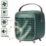 GONGYBZ Mobile Klimageräte Tragbare 3 in 1 Mini Luftkühler, Luftbefeuchter, Luftreiniger und Tischventilator, USB Klimaanlage Tragbare, Leise Klimagerät Persönliche Green
