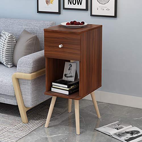 FEI - Computer-Schreibtisch Sofa Side Cabinet Kleine Couchtisch Bett Tisch Schlafzimmer Eckschrank Beistelltisch für alle Workstations (Farbe : Nussbaum)