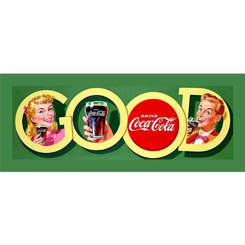 Trademark Global Markenzeichen Gute Coke Gespannte Leinwand print-12X 36–Zoll