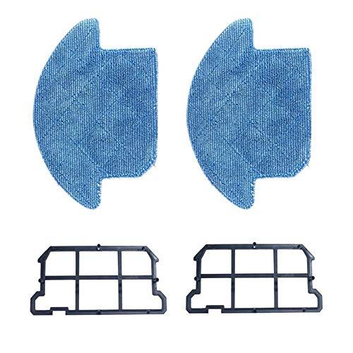 Apricot blossom 2pc Desmontable fregona y 2 Piezas de reemplazo de Alta eficiencia del Filtro Kit de Accesorios en Forma for Ilife V7S V7S Pro Aspirador de vacío robótica (Color : Blue)