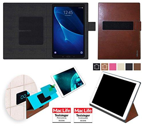 Hülle für Samsung Galaxy Tab A 10.1 (2016) Tasche Cover Hülle Bumper | in Braun Leder | Testsieger