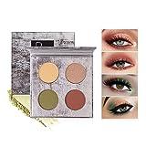 OLesley Sombras de ojos Profesional Shimmer Matte Glitters Sombra de ojos en polvo 4 colores Impermeable de alta gama Sombra de ojos en polvo Ideal paleta de sombras de ojos cosmético (05)