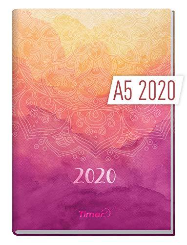 Chäff-Timer Classic A5 Kalender 2020 [Mandala] Terminplaner 12 Monate: Jan bis Dez | Wochenkalender, Organizer, Terminkalender mit Wochenplaner - Top organisiert durchs Jahr!