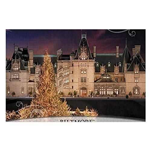 Biltmore House Xmas Wooden Jigsaw Puzzles for Adults Kids Toddlers 1000 Piece Learning Educational Puzzles Toys for Boys and Girls