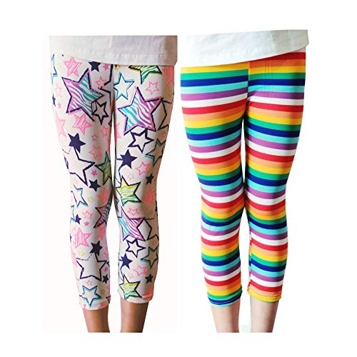 Lazzon Niñas Pantalones Leggings Cortos 3/4 Largos
