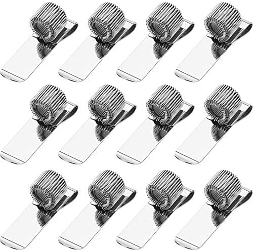 12 Pieces Pen Clipboard Holder Pen Clipboard Holder Manganese Steel Pen Clip Organizer for Notebook product image