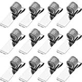 12 Pieces Pen Clipboard Holder Pen Clipboard Holder Manganese Steel Pen Clip Organizer for Notebook and Clipboard in Home, Office, Pocket (Silver, Style B)