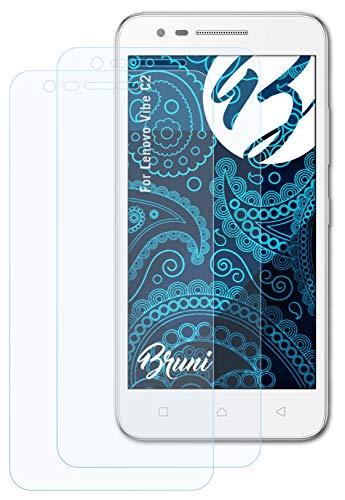 Bruni Schutzfolie kompatibel mit Lenovo Vibe C2 Folie, glasklare Bildschirmschutzfolie (2X)