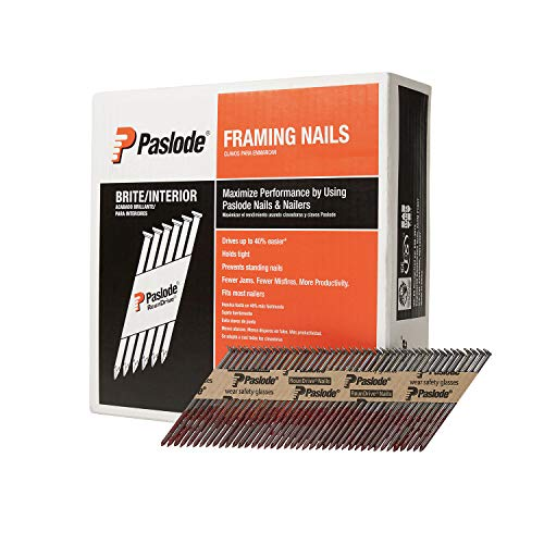 Paslode, Framing Nails, 650836, 30 Degree RounDrive Brite, 3 inch x .120 Gauge, Smooth, 2,500 per Box