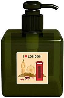 DIYthinker I Love London UK Post Office Flag Mark Soap Lotion Liquid Dispenser Bottle Pump Home