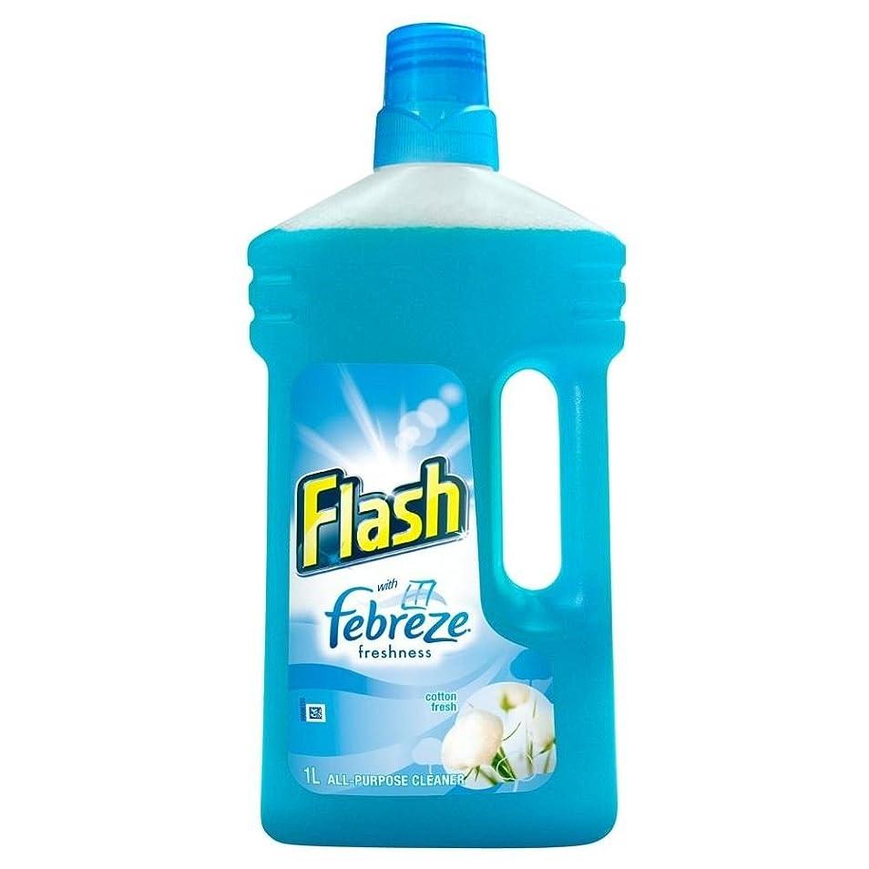 着陸数学包囲Flash All Purpose Cleaning Liquid Cotton Fresh with Febreze (1L) ファブリーズとの新鮮な液体綿のクリーニングすべての目的をフラッシュ( 1リットル)