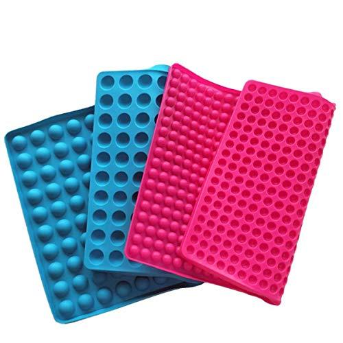 Mobiut 2 Stück Silikon Backmatte,1.2cm Halbkugel Silikonmatte und 2.0cm Halbkugel Backform für Hundekekse & Hundeleckerlies 38,5x27,5cm
