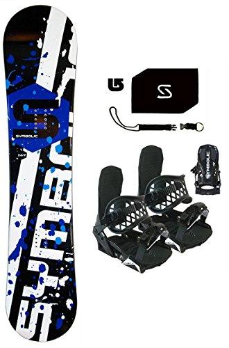 Symbolic 90cm Chopper Kids Snowboard & BLK Bindings & Leash...