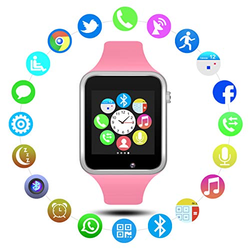 Padgene Bluetooth Smart Watch GSM Phone Watch with Camera for Samsung Nexus HTC Sony and Other Android Smartphones (Pink)