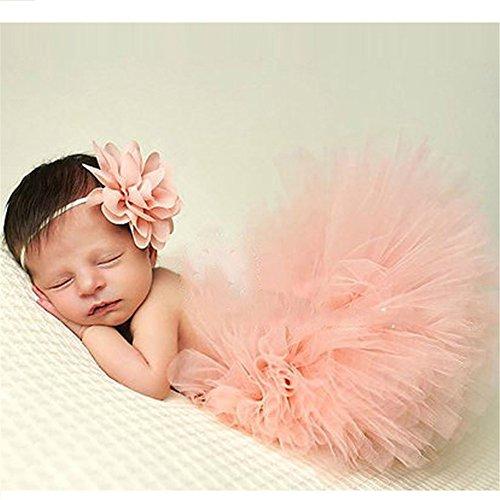 HENGSONG Neugeborenes Baby Rock Tutu Kleidung Trikot Kostüm Foto Prop Outfits Bekleidung Set (Rosa 1)