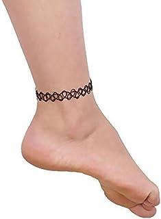 Beyond Dreams - Set di 3 cavigliere con motivo henné, stile henné, set di gioielli per piedi