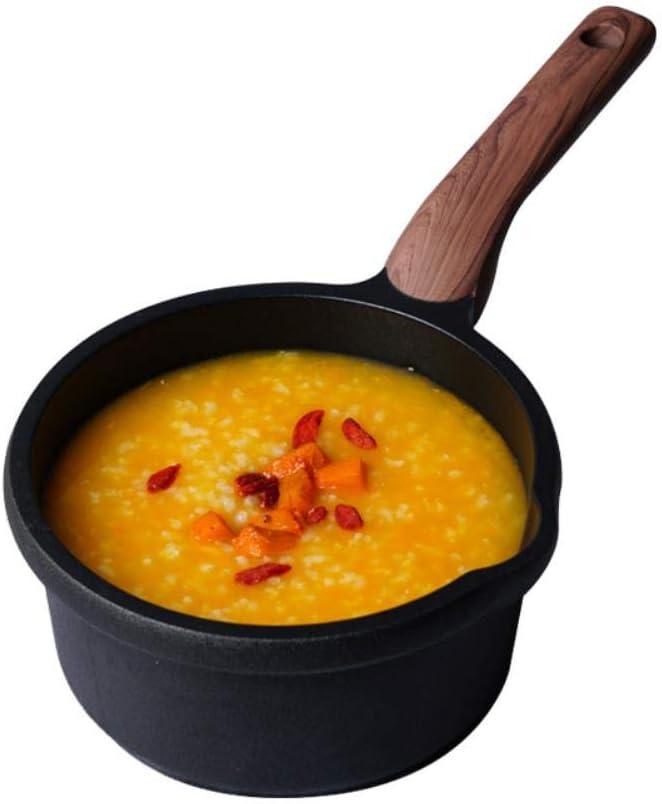 YCXHT Anti-Adhérent Pan Pot À Soupe Mini Pot À Lait Complément Alimentaire pour Bébé Enfants Cuisinière Cuisine Cuisson Casserole Casserole Marmite, 18 CM 16 Cm