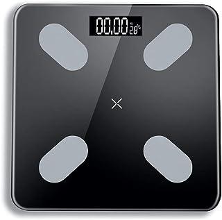 DaMuZ Báscula Grasa Corporal Más con Pantalla LCD Retroiluminada Alta Medición Precisa Carga USB Báscula de baño Antideslizante Bluetooth Báscula Inteligente Grasa Corporal Digital