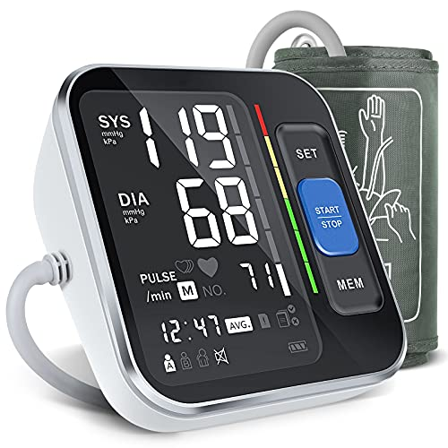 """Blood Pressure Monitor Upper Arm, [2021 New] Lavfa Blood Pressure Cuff 8.7""""-15.7"""" Monitor with Backlight Display & HR Detection, Digital BP Machine with Carrying Case for Adult & Pregnancy"""