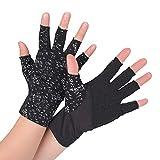(フレミ) Flammi アームカバー UV手袋 紫外線対策 スマートフォン ショート 指なし レディース 日焼け対策 夏用 通勤 通学 (黒)