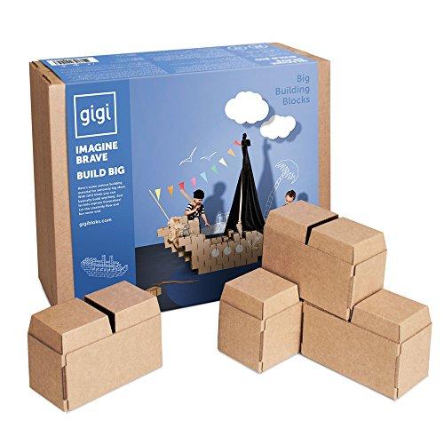 De gros blocs de construction – jeu de construction créatif avec 96 blocs de taille XL - un cadeau merveilleux pour garçons et filles