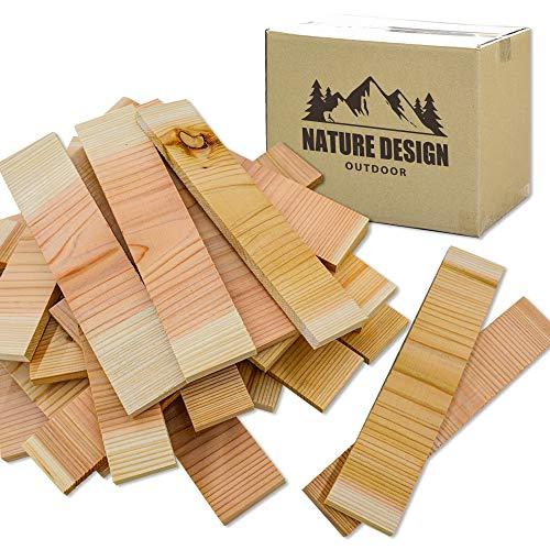 ソロキャンプ 焚き付け用 平板 杉の薪 約60本 長さ29cm 針葉樹