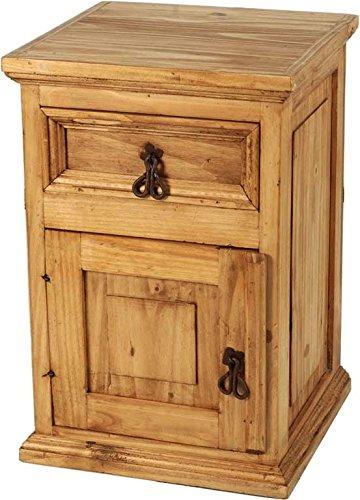 MiaMöbel Nachttisch Mexico Möbel 40x59x38 cm Landhausstil Massivholz Pinie Honig