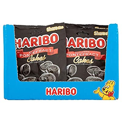 haribo pontefract cakes 1.7kg soft liquorice licorice, 140g x 12 packs, (1.7kg total bulk sweets) HARIBO Pontefract Cakes 1.7kg Soft Liquorice Licorice, 140g x 12 packs, (1.7kg total bulk sweets) 516JGSIPwgL