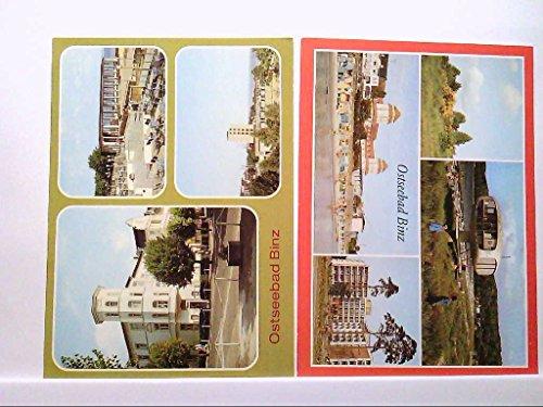 2 AK´s Ostseebad Binz, Mehrbildkarten, Am Rettungsturm, Kurhaus, FDGB Erholungsheim