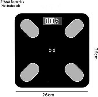 JINHH Báscula de baño Digital Báscula de baño Digital, Báscula de baño Báscula, Control de aplicación Bluetooth Báscula de Equilibrio Corporal, Peso electrónico Inteligente LED Digital Peso, 180Kg