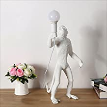 Modeen Modern Creative Animal Resin Monkey Table Lamp Personality Simple Study Bar Office Industrial Art Monkey Study Rest...