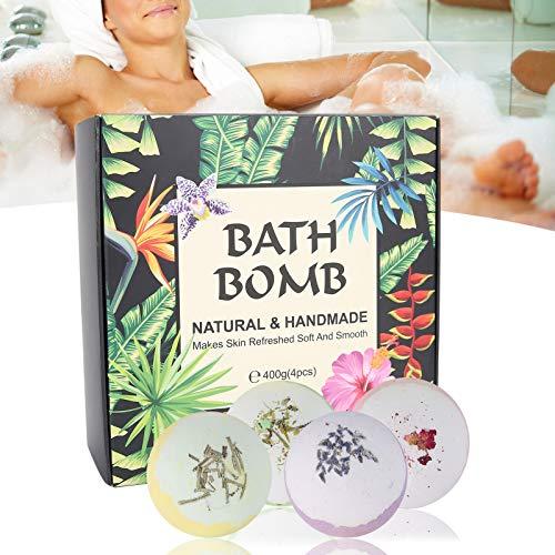 Bath Bombs Gift Set, Body Moisturize Fizzy Bubble Bath Bombs Aceites esenciales naturales orgánicos que relajan e hidratan la piel, Luxury Spa Bomb Regalos para niños, Mamá, novia