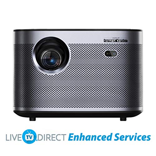 CACACOL Updated XGIMI H3 Android 3D Smart TV Home Cinema 4K Beamer Projector | Native 1080p HD | 1900 ANSI Lumens | X-VUE MEMC HDR10 | Harman/Kardon Hi-Fi Stereo Speaker | Global Languages Support