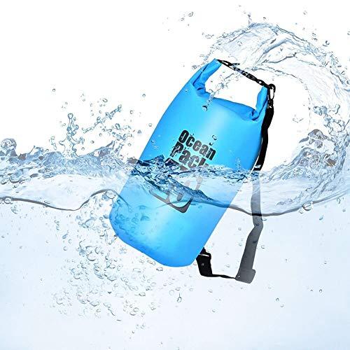 Queta Dry Bag/Wasserdichter Trockenbeutel Wasserfeste Tasche Ideal für Boot, Angeln, Rafting, Schwimmen und Camping Schützt Deine Wertsachen und Kleidung vor Wasser, Sand und Schmutz Blau (15L)