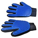 GFHFRTHA Pet Grooming Glove - for Cats, Dogs and Horses - Long & Short Fur - Gentle De-Shedding Brush - Gentle Deshedding Brush Glove - Efficient Pet Hair Remover Mitt - (1Pair Left & Right Hand)