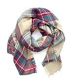 A Bufanda para Mujer,Bufanda de Moda,pañuelo para Mujer,Bufanda Mujer Grande,Bufanda a Cuadro,