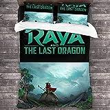 Raya and The Last Dragon Juego de ropa de cama,funda nórdica para niños y adultos,fácil de limpiar,adecuado para todas las estaciones