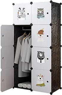 Garde-Robe Simple Chaussures Garde-robe Portable Bricolage Organisateurs De Stockage Dessin Animé Placard À Vêtements Desi...