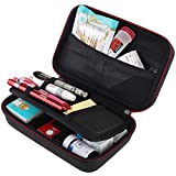 BOVKE Travel Case for Diabetic Supplies, Storage Case for Insulin Pens, Glucose Meters, Test Strips, Medication, Lancets, Syringe, Pen Needles and Other Diabetic Testing Accessories, Black