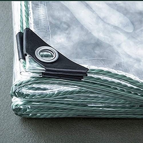 Telo impermeabile trasparente, con occhiello, copertura protettiva per parabrezza, resistente alla polvere, in PVC morbido, facile da piegare (0,3 mm/450 g/m²) (Color : Clear-0.3mm, Size : 2.4x5m)