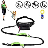 Sukeen Hands Free Dog Leash, Dog Runing Leash for Outdoors Running Training Comfortable Shock Absorbing Running Dog Leash Hands Free with Phone Pocket & Water Bottle Holder