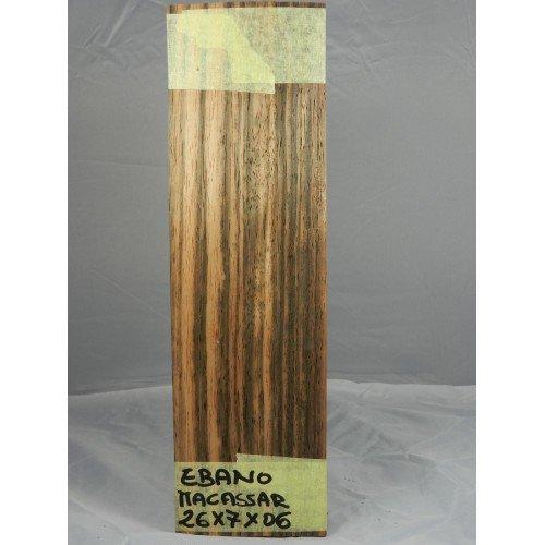 10Blätter von Furnier Holz natur für die Inlay von Makassar Ebenholz 260mm x 70mm x 0,6mm