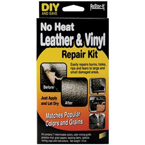 Master Manufacturing ReStor-it No Heat Leather & VinyI Repair Kit, Seven Colors,...