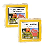 WISCONSIN'S BEST and WISCONSIN CHEESE COMPANY - Fresh Healthy Colby Cheese Block Snacks. 100% Wisconsin Cheese (Approx. 1.5 lbs) (2 Pack) Colby Cheese. Amazon Grocery. Great For Cheese Boards, Cheese and Crackers and Appetizers.