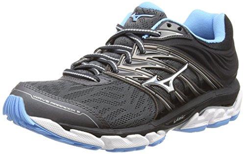 Mizuno Wave Paradox 5, Zapatillas de Running Mujer, Negro (Magnet/Silver/Bonnieblue 03), 38 EU
