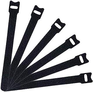 Zeal Multipurpose Fastening Cable, Reusable, Microfiber Cloth 6in Black Zip Ties Heavy Duty Cord - Pack of 20
