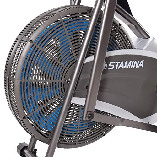 Product Image 3: Stamina Air Resistance Exercise Bike 876, Silver, Gray
